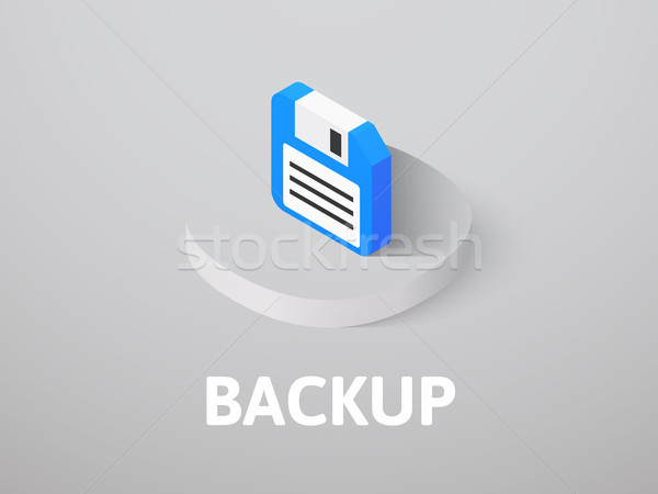 Backup isometric icon, isolated on color background Stock photo © sidmay