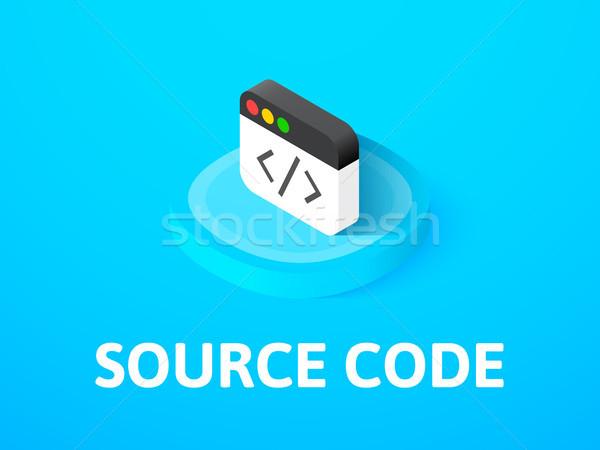 Bron code isometrische icon geïsoleerd kleur Stockfoto © sidmay