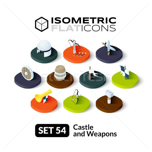 Stock photo: Isometric flat icons set 54