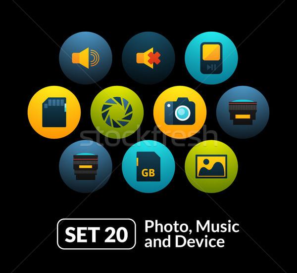 20 аудио фото коллекция телефон Сток-фото © sidmay