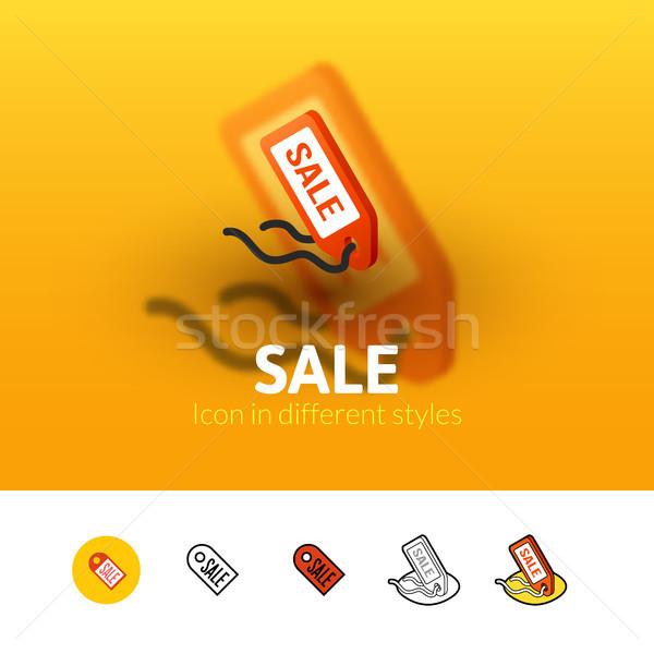 Vásár ikon különböző stílus szín vektor Stock fotó © sidmay