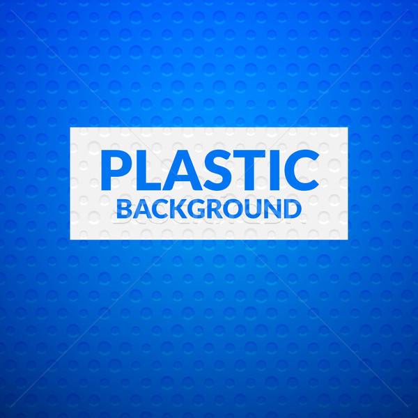 Blauw metaal plastic textuur kunst industriële Stockfoto © sidmay