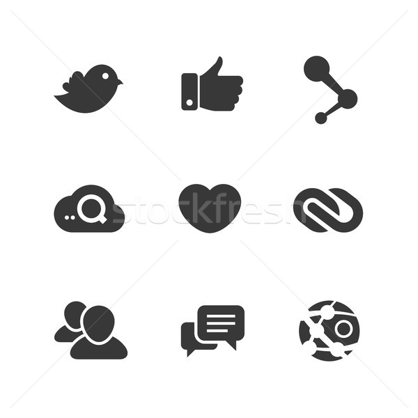 Vector set of social network icons Stock photo © sidmay