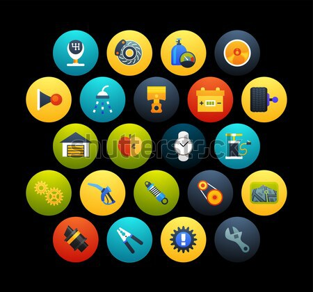 Flat icons vector set 14 - game collection Stock photo © sidmay