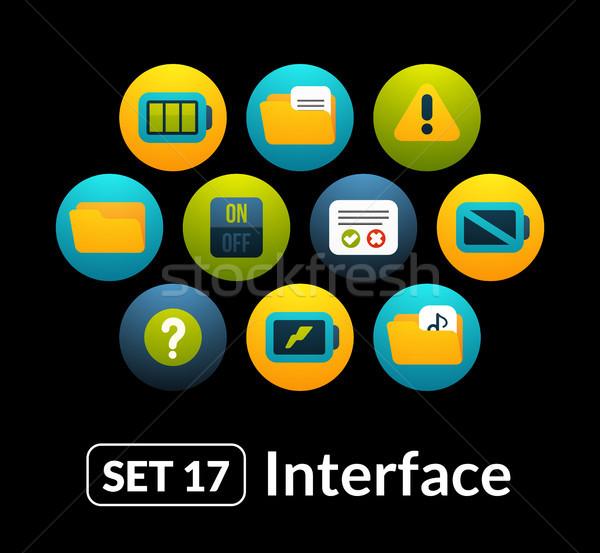 Iconen vector ingesteld 17 interface collectie Stockfoto © sidmay