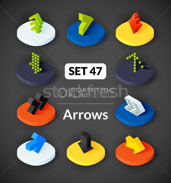Isometric flat icons set 47 Stock photo © sidmay