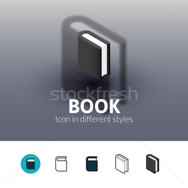 книга икона различный стиль цвета вектора Сток-фото © sidmay