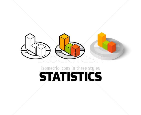 ストックフォト: 統計 · アイコン · 異なる · スタイル · ベクトル · シンボル