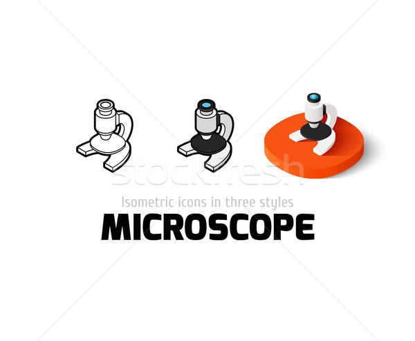 Microscoop icon verschillend stijl vector symbool Stockfoto © sidmay