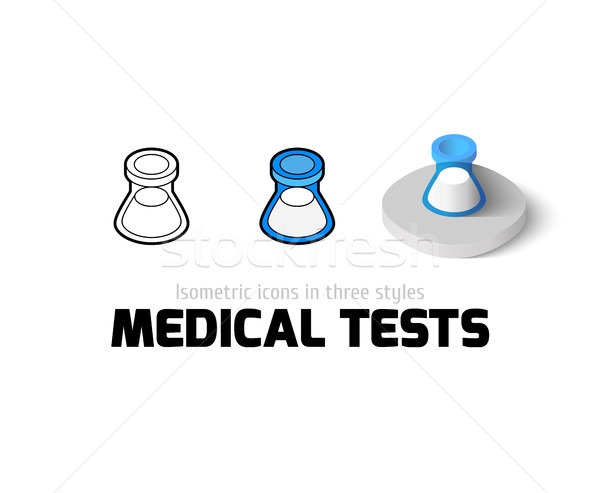 Medical tests icon in different style Stock photo © sidmay