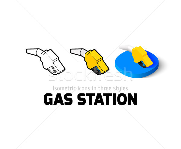 Tankstation icon verschillend stijl vector symbool Stockfoto © sidmay