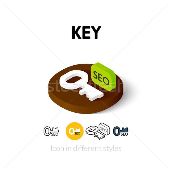 Anahtar ikon farklı stil vektör simge Stok fotoğraf © sidmay