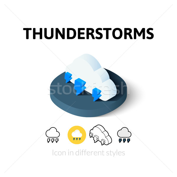 Thunderstorms icon in different style Stock photo © sidmay