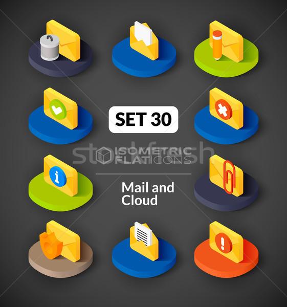 30 iconos 3D pictogramas Foto stock © sidmay