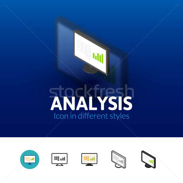 Analysis icon in different style Stock photo © sidmay