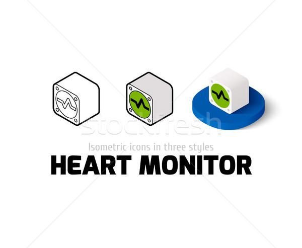 сердце контроля икона различный стиль вектора Сток-фото © sidmay