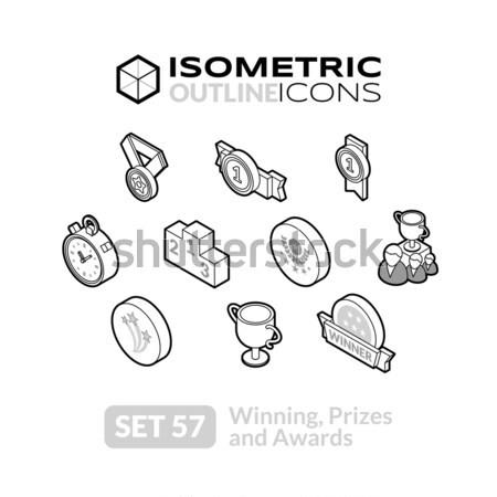 Сток-фото: изометрический · 14 · иконки · 3D