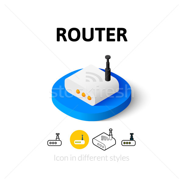 Router icon in different style Stock photo © sidmay