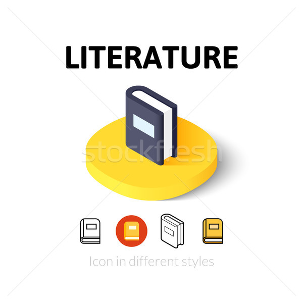 Literature icon in different style Stock photo © sidmay