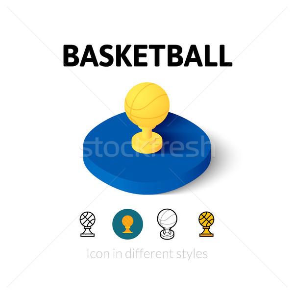 Baloncesto icono diferente estilo vector símbolo Foto stock © sidmay
