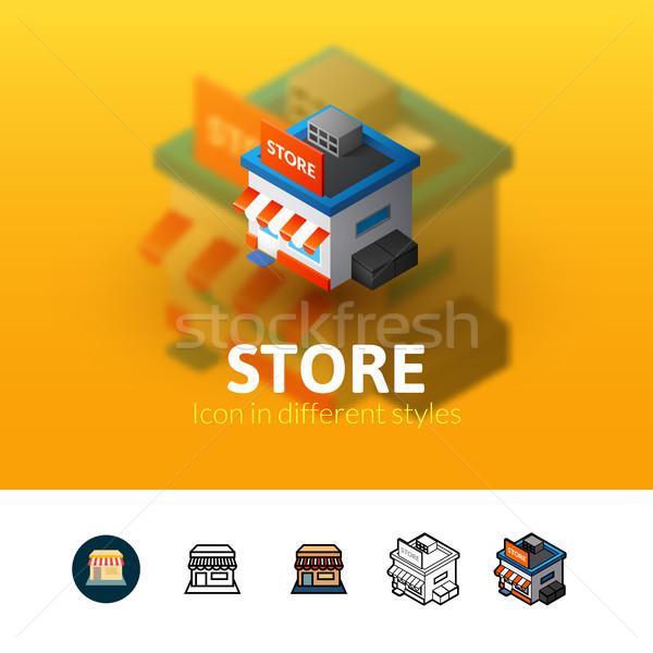 Store icon in different style Stock photo © sidmay
