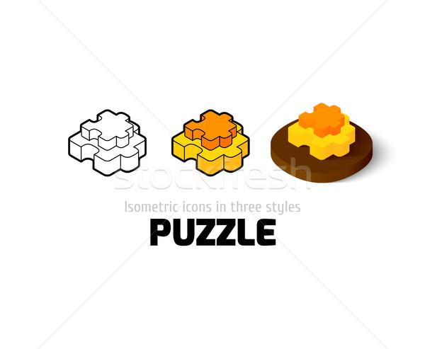 Puzzle ikon különböző stílus vektor szimbólum Stock fotó © sidmay