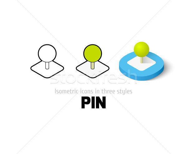 Pin icon in different style Stock photo © sidmay