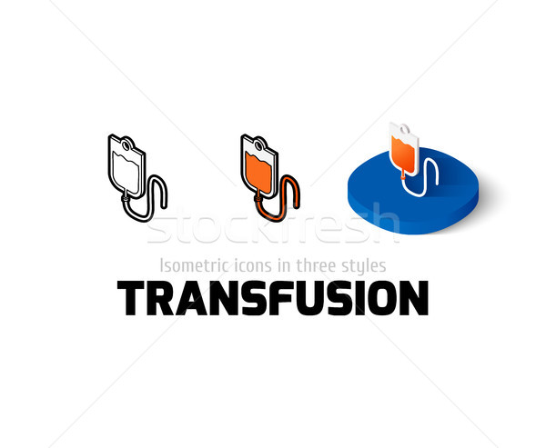Transfusion icon in different style Stock photo © sidmay