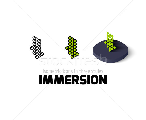 Immersion icon in different style Stock photo © sidmay