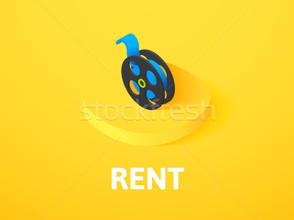 Rent isometric icon, isolated on color background Stock photo © sidmay