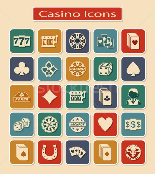 Set of Casino Icons  Stock photo © Silanti