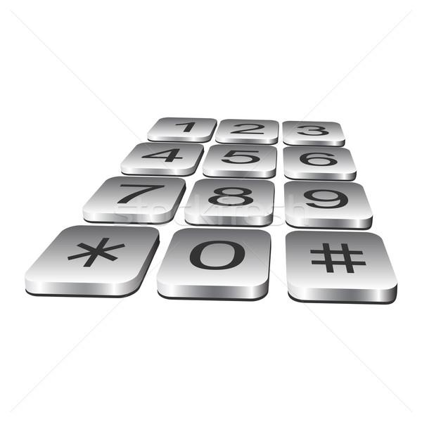 Telephone keyboard. Stock photo © Silanti