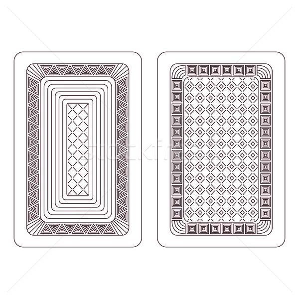 Dísz kártyapakli kettő fény terv hálózat Stock fotó © Silanti