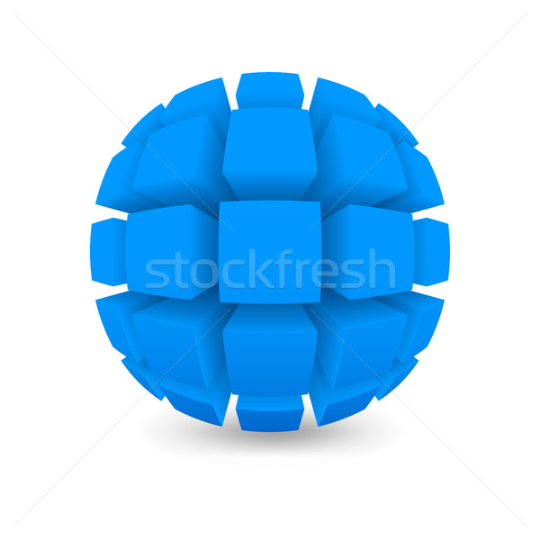Divided blue sphere  Stock photo © Silanti