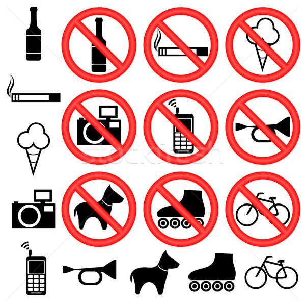 Prohibitory signs. Stock photo © Silanti