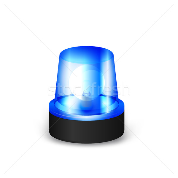 Blue flashing siren  Stock photo © Silanti
