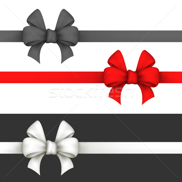 Black, red and white gift bows.  Stock photo © Silanti