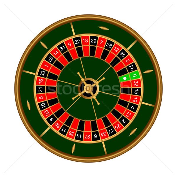 Roulette Spiel weiß Spaß Unfall Glücksspiel Stock foto © Silanti