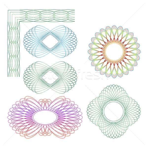 Guilloche rosette. Stock photo © Silanti