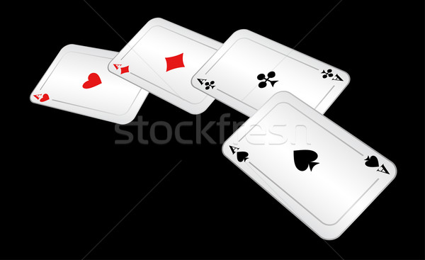 Four playing cards. Stock photo © Silanti