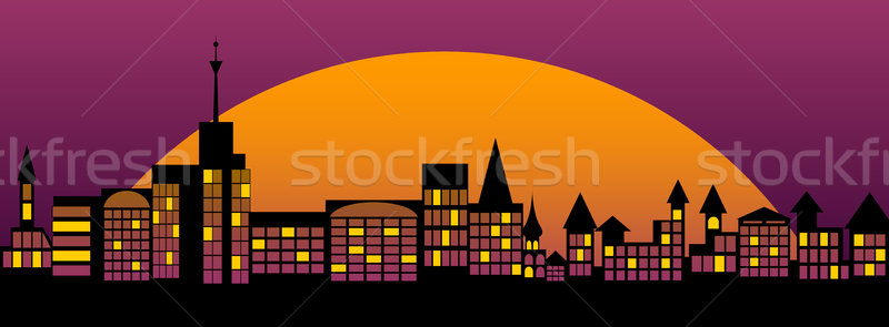 Nightly city. Stock photo © Silanti
