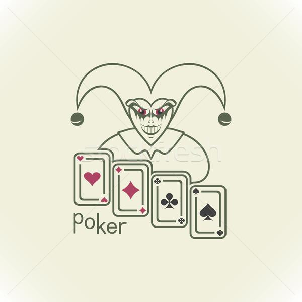 Joker and playing cards  Stock photo © Silanti