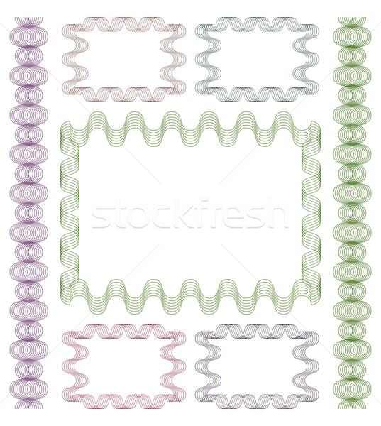 Set of guilloche frames. Stock photo © Silanti