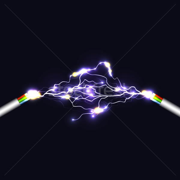 электрических арки свет технологий искусства электроэнергии Сток-фото © Silanti