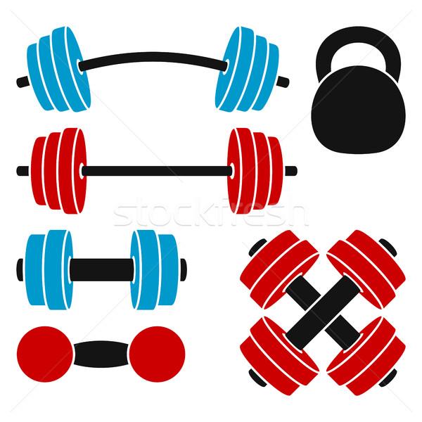 спортивный весов тяжелая атлетика фитнес набор Сток-фото © Silanti
