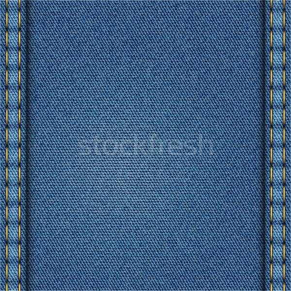 Blauw denim textuur mode abstract weefsel Stockfoto © Silanti