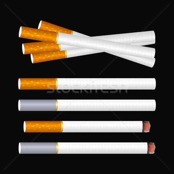 Cigarette on black  Stock photo © Silanti