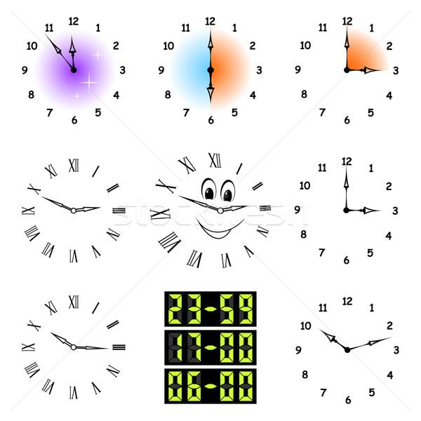 Funny clocks. Stock photo © Silanti