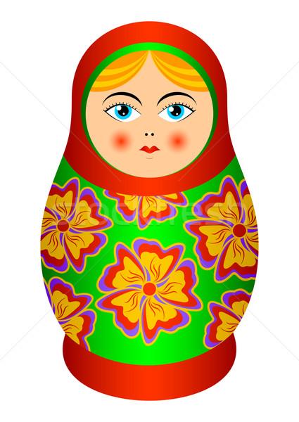 русский сувенир изолированный кукла белый глазах Сток-фото © Silanti