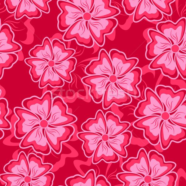 Hochrot abstrakten Blumen Form Blume Stock foto © Silanti